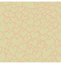 Retro Valentine seamless pattern vector image vector image