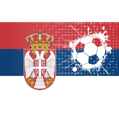 Serbian football vector