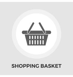 Shopping basket flat icon vector