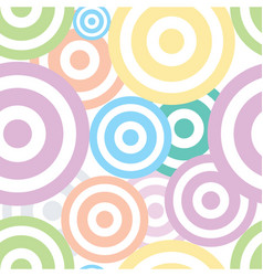 spiral circles fabric pattern vector image vector image