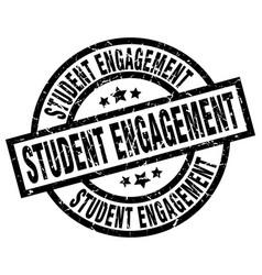Student engagement round grunge black stamp vector