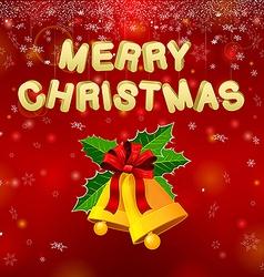 Merry Christmas Bells vector image
