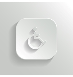 Disabled icon - white app button vector
