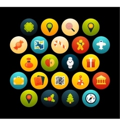 Flat icons set 3 vector