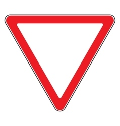 Give way sign vector