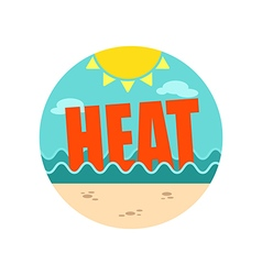 Heat icon summer vacation vector