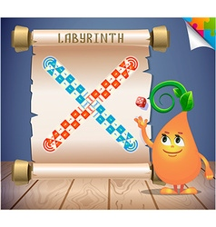 Board game labyrinth vector