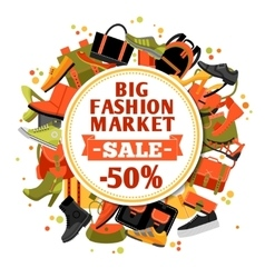 Fashion footwear sale vector