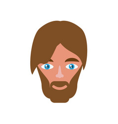 Adult male head vector