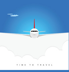airplane poster background vector image vector image