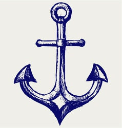 Anchor sketch vector image vector image