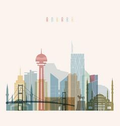 ankara skyline detailed silhouette vector image