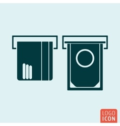 ATM icon isolated vector image vector image