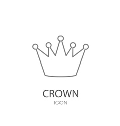Black crown icon flat style object vector