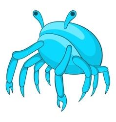 Blue crab icon cartoon style vector