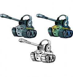 cartoon tanks vector image
