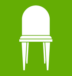 chair icon green vector image