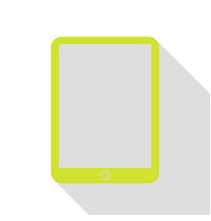 computer tablet sign pear icon with flat style vector image vector image