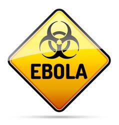 ebola biohazard virus danger sign with reflect vector image vector image