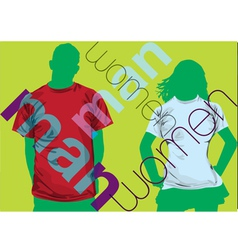 Fashion couple vector image