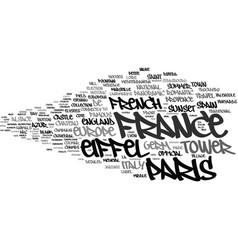 France word cloud concept vector
