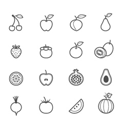 Fruits and Vegetables icons vector image vector image