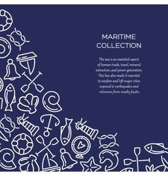 Maritime collection background vector image