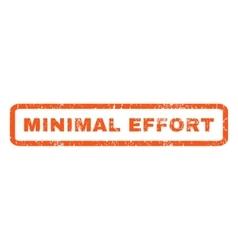 Minimal effort rubber stamp vector
