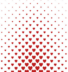 Red heart pattern background design vector image vector image