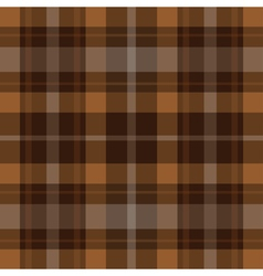 Seamless brown black tartan - white stripes vector