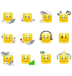 Smilies it system vector