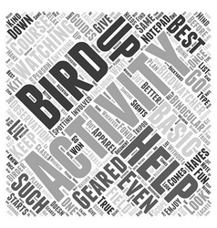The Basic Bird Watching Apparel The Must Haves for vector image