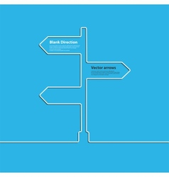 The concept arrow sign of choosing the direction vector image vector image