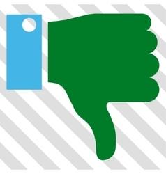 Thumb down icon vector