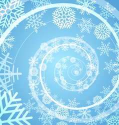 Winter snow storm spiral background vector image vector image