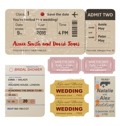 World traveler tickets collection vector image vector image