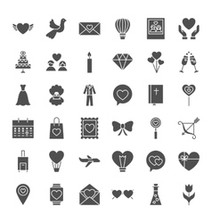 Love heart solid web icons vector