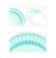 Template of the summer sea banner vector