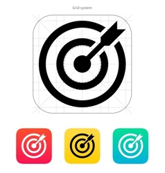 Darts target aim icon Successful shoot vector image