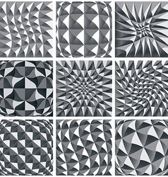 Abstract black and white background geometric vector