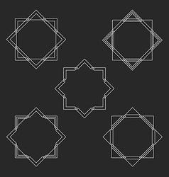 Minimal hipster monogram frames set mockup for vector image