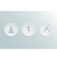 Icons yoga asanas vector