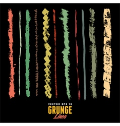 A set of grunge watercolor and ink strokes vector