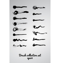 Large set of 15 different grunge brush vector