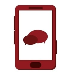 Cellphone with chat bubbles vector