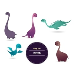 Cute funny lovely dino vector