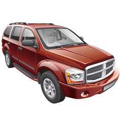 American full size SUV vector image