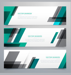 Awesome business banners set made with geometric vector
