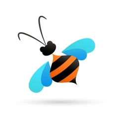 Bee icon and element vector