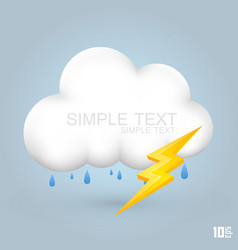 Cloud and rain with thunder vector